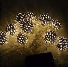 Solcelle lyskæde med Marokko lamper