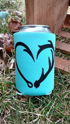 Can Cooloer-Koozie-Fish Hook Antler Heart-Country Stuff-Bullet Earrings-Country Cutie Boutique-Country Girl-Country Jewelry-Country Clothing-Hunting Girl-Girls With Guns-Shoot Like A Girl-Gun Powder and Lead-Browning-Hunt Like A Girl-Antler Jewelry-Deer Hunting-Elk Hunting-Cowgirl-Wester-Western Jewelry-Shotgun Shell Jewelry-Cowgirl Boots-Shotgun Shells-Remington-Winchester-Archery-Bow Hunting-Shoot Like A Girl