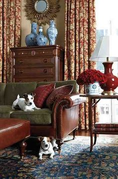 The dogs, the blue & white, the mirror, the red lamp ~ not the leather
