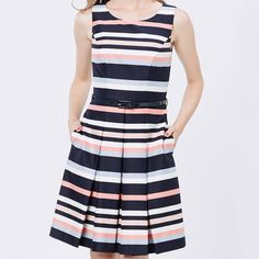 Stripe up your life with our Horizon Stripe Dress. And yes ladies, it has pockets! Xx #stripes #fitandflare #reviewaustralia