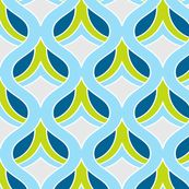 blue, lime fabric
