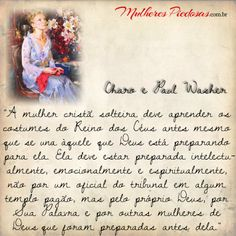 """A Mulher Piedosa: Tornado-se Ester"" por Charo e Paul Washer My Life, Princess, Ideas, Woman Of God, Wise Words, Christian Couples, Kingdom Of Heaven, Christian Women, Pictures"