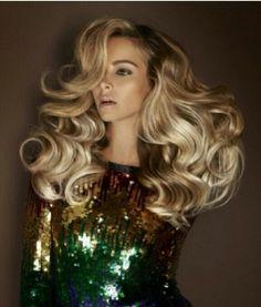 Blonde hair dark roots. Big hair. Gorgeous