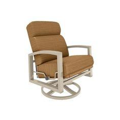 Tropitone Lakeside Swivel Lounge Rocking Chair with Cushions Fabric: Dupione Caramel, Finish: Sonora