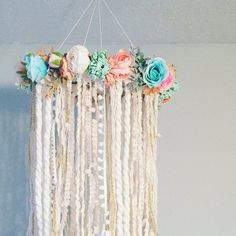 Nursery Mobile Dreamcatcher Mobile Flower Mobile Boho chic Source by Chic Nursery, Floral Nursery, Girl Nursery, Girl Room, Baby Room, Dream Catcher Mobile, Dream Catcher Boho, Dream Catchers, Nursery Themes
