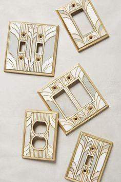 Retro Swirl Switch Plate - Art Nouveau & Art Deco Home - Art Decoration Art Deco Decor, Casa Art Deco, Art Deco Design, Home Design Decor, Decoration, House Design, Interior Design, Art Deco Style, Art Deco Art