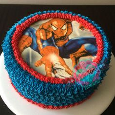 Torta Hombre Araña Realiza tu pedido por; WhatsApp: 3058556189, fijo 8374484  correo info@amaleju.com.co Síguenos en Twitter: @amaleju / Instagram: AmaLeju Cupcakes, Birthday Cake, Cars, Twitter, Desserts, Instagram, Spiderman, Themed Cakes, Cream
