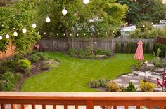 This is a backyard that is simple, but nicely landscaped…