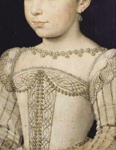 ClouetFrançois,Portrait de Marguerite de Valois enfant (Détail)  1560