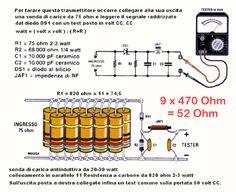 ROSmetro WATTmetro DummyLoad i6ibe Ivo Electronic Schematics, Electronic Parts, Radios, Ham Radio Antenna, Wifi, Audio Amplifier, Home Brewing, College, Circuits