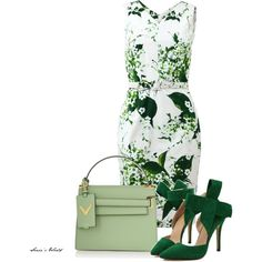 Green by sonies-world on Polyvore featuring мода, Samantha Sung and Valentino