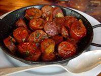 chorizo a la sidra receta comida tipica asturiana.
