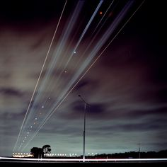 Landing 2 /by science #flickr #lights #sky #plane #sky #airport
