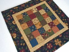Country Quilted Table Topper with by ForgetMeNotQuilteds on Etsy
