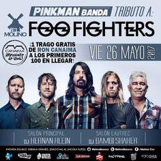 "El Molino presenta ""Pinkman Banda – Tributo A Foo Fighters"" http://crestametalica.com/evento/molino-presenta-pinkman-banda-tributo-foo-fighters/ vía @crestametalica"