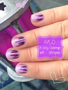Graffiti Nails Purple