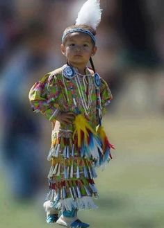 Tiny Tot Jingle Dancer: This little jingle dancer is the epitome of confidence as she competes in the tiny tot division at the 2011 Julyamsh Pow Wow held in Post Falls, Idaho. This event is the largest outdoor event in the Northwest. Native Child, Native American Children, Native American Beauty, Native American Photos, American Indian Art, Native American History, American Symbols, American Girl, Native American Regalia
