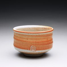chawan tea bowl pottery bowl with shino and by rmoralespottery