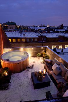 Describe this rooftop in ONE word! This incredible terrace with jacuzzi and lounge area is located in - Architecture and Home Decor - Bedroom - Bathroom - Kitchen And Living Room Interior Design Decorating Ideas -