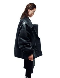 OVERSIZE LEATHER JACKET - FASHION FLASH