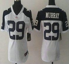 Nike Dallas Cowboys Jersey 29 DeMarco Murray White Thanksgiving Game Womens Jerseys