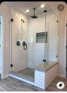 Master Bedroom Bathroom, Small Master Bathroom Ideas, Master Shower Tile, Master Bath Remodel, Remodel Bathroom, Small Shower Remodel, Dream Bathrooms, Marble Bathrooms, Bathrooms Decor