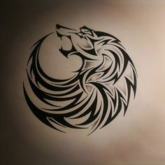 Tribal Wolf Tattoos Designs and Ideas ❤ liked on Polyvore featuring accessories and body art