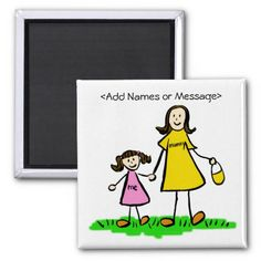 Customizable Mummy & Me - Mother and Daughter Magnet