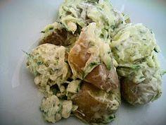 Potato & courgette salad