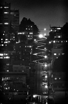 Lombard St at night // Fred Lyon