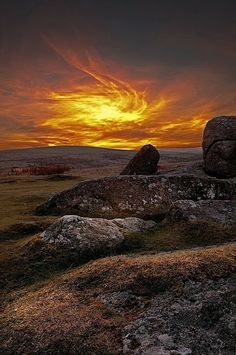 The Flaming Sky - Devon, UK