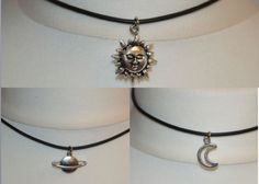 Sale 10% Off ~ 90's Celestial choker pack including: planet, sun and moon with a lobster clasp fastening.