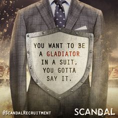 Tag and repin this poster with your friends and get them excited for the return of #Scandal Thursdays this fall on ABC. #‎ScandalRecruitment‬