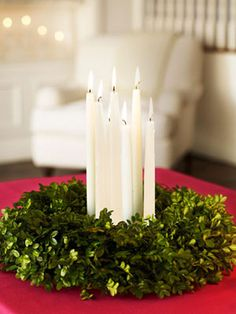 Sophisticated yet stress-free, this candlelit centerpiece will last until you ring in the New Year. #christmas #holiday #crafts