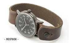 Timex buttonstud weekender watch with chromexcel leather band. $75. Can't go wrong.