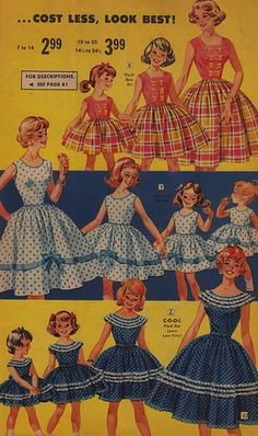 Cost Less, Look Best 1959 Catalogue - Mother Daughter fashion