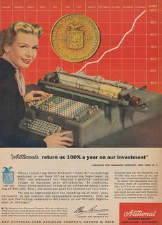 Nationals Return Us 100% On Our Investments! (Ad from 1952.) I kinda liked this thing.