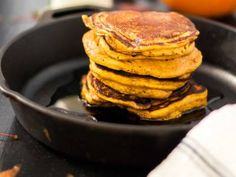 Nothing says Autumn has arrived more than a batch of whole wheat pumpkin pancakes for Sunday brunch. Most traditional recipes call for all purpose flour but I prefer the heartier taste of white whole wheat flour and it's healthier.