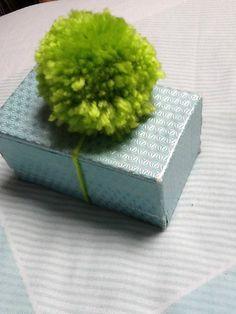 Pom Pom Decoration Green Gift Decoration by KreationsByKirstenL