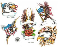 amusing Glittering Latest Eagle Tattoo Designs