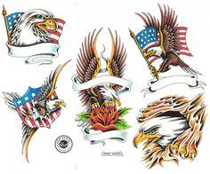 amusing Glittering Latest Eagle Tattoo Designs