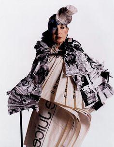 RIP Anna Piaggi, the fun, fearless & inspiring Italian fashion legend.