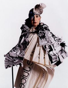 RIP Anna Piaggi, the fun, fearless & inspiring Italian fashion legend.