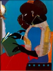 View The Lamp by Romare Bearden on artnet. Browse more artworks Romare Bearden from Mojo Portfolio. American Art, African American Artist, African, Romare Bearden, Black Abstract, Reading Art, Art, Book Art, American Artists