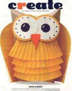 DIY Owl using Toilet Paper Roll