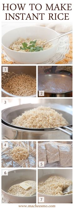 Knowing how to make instant rice from a sturdy rice is a great meal planning tip. It's easy to make in bulk, is healthier than store-bought instant rice, and reheats perfectly! Freezer Cooking, Cooking Tips, Cooking Recipes, Healthy Recipes, Gourmet Cooking, Cooking Pork, Freezer Meals, Meat Recipes, Make Ahead Meals