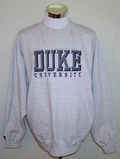 Duke Blue Devils NCAA Basketball Vintage Jansport Crew Neck Sweatshirt Size XL #Jansport #DukeBlueDevils