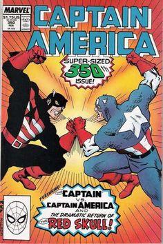 Captain America # 350 by Kieron Dwyer & Al Milgrom