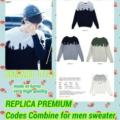 CODES COMBINE FOR MEN REPLICA SWEATER Rp 515,000