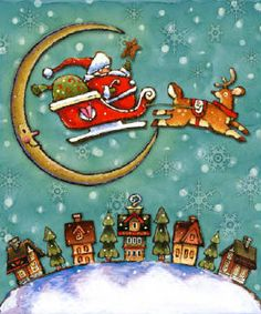 'Santa is coming....' ~~ Artist: Michael Stoebner